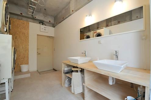 洗面所。シェアハウス志賀本通 D-FLAT05