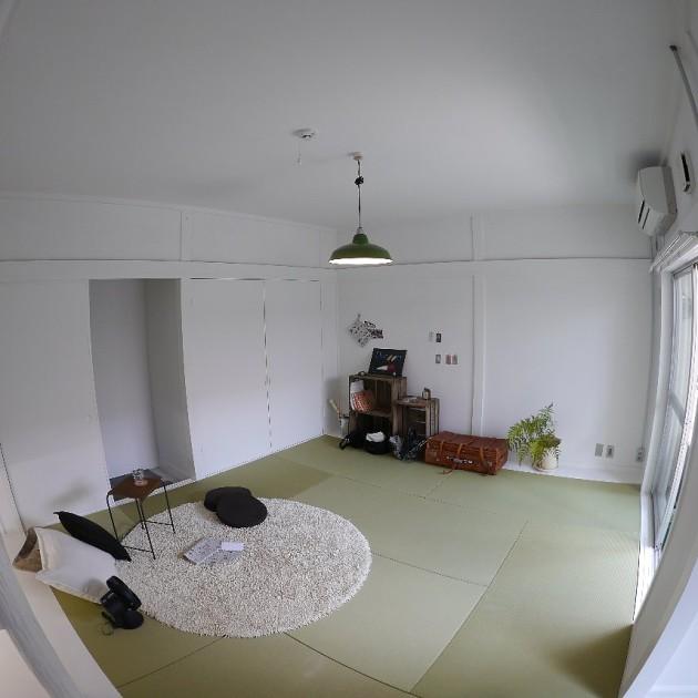 シェアハウス滝子・1号室は畳部屋(14.3㎡)。和の雰囲気。
