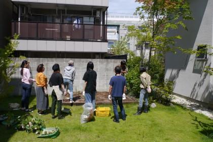 野菜苗ワークショップ:LT城西・中庭2018-0624-